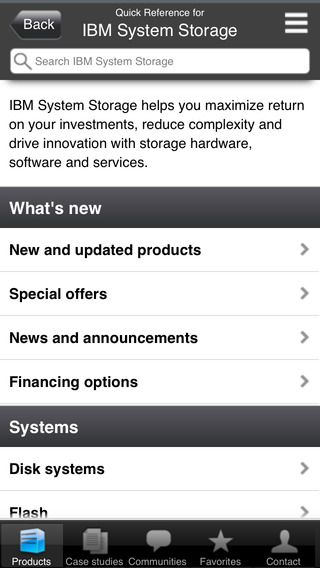 IBM Systems and Storage Quick Reference Mobile Application