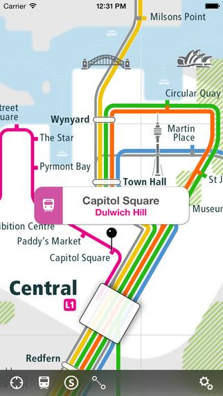Sydney Rail Map Lite
