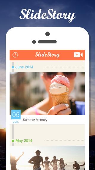 SlideStory - 充满回忆的相片制作出发送朋友结婚祝贺 情侣约会的甜蜜回忆小短片和家里的宠物