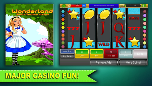 Aaaaaab Wonderland Slot Machines Casino Slots Craze Party