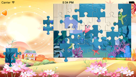 Ocean Fish JigSaw Puzzle Game for Kids
