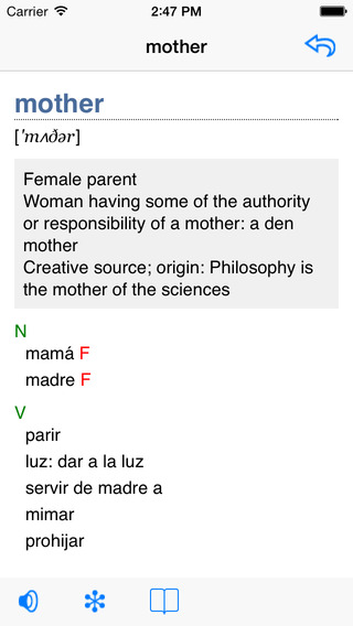 English-German Talking Dictionary iPhone Screenshot 2