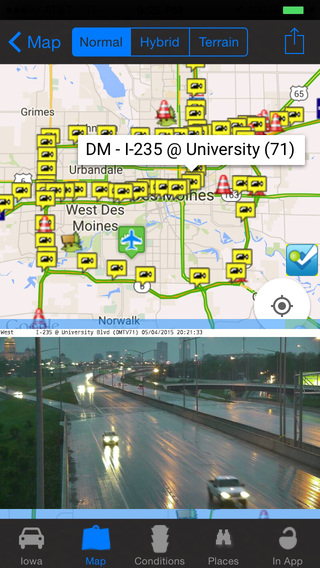 Iowa Road Conditions and Traffic Cameras - Travel Transit NOAA Pro