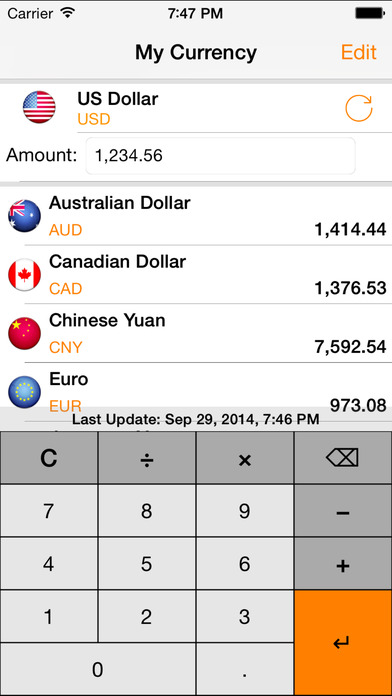 My Currency - Currency Converter iPhone Screenshot 3