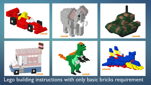 Bricksir - building instructions for standard lego bricks