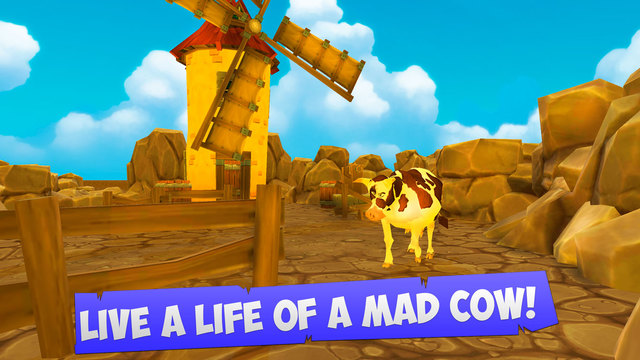 Cartoon Mad Cow Simulator 3D