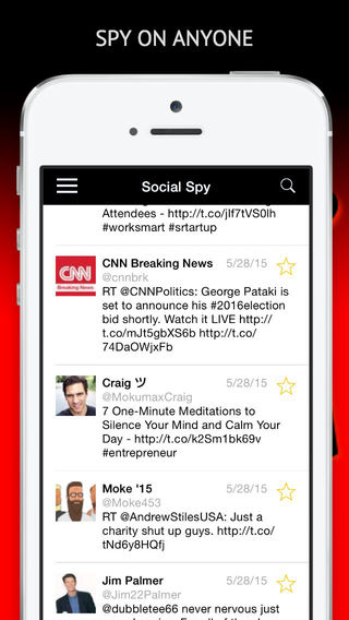 Social Spy Free - The ultimate anonymous spying app for Twitter.