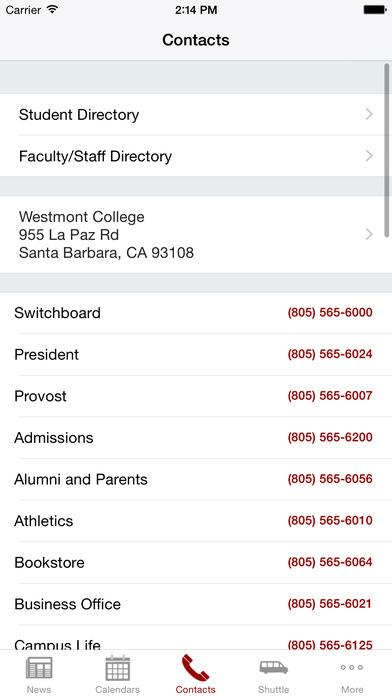 Westmont iPhone Screenshot 3