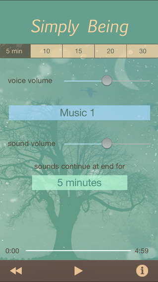 Simply Being - Guided Meditation for Relaxation and Presence iPhone Screenshot 1