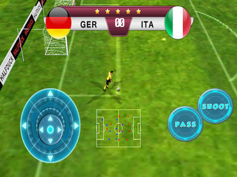 Screenshots of Best pro speed real soccer 2016 game - Top new free football games Euro Germany VS Italy edition for iPad