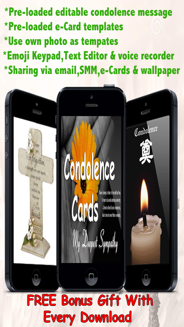 app shopper best condolence cards with emoji keypad customise and