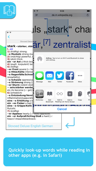 German <-> English Slovoed Deluxe talking dictionary iPhone Screenshot 3