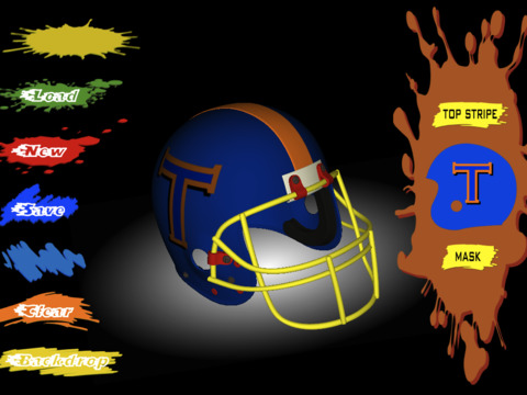 Football Helmet 3D - Design your helmet decals iPad Screenshot 2