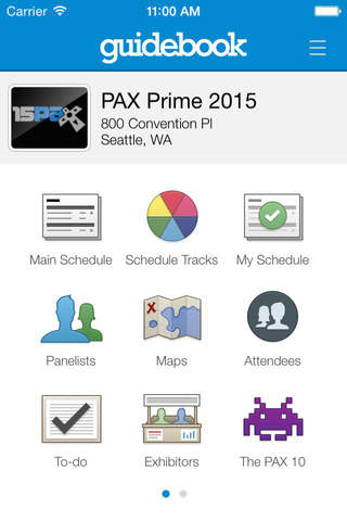 PAX Prime 2015 Mobile App screenshot 1
