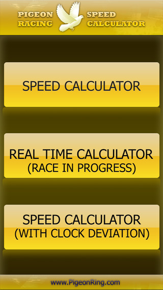 PIGEON RACING SPEED REALTIME CALCULATOR