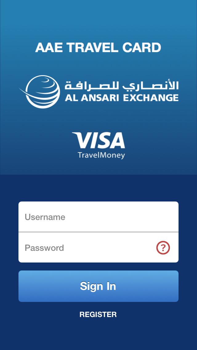aae travel card al ansari exchanges multi currency visa prepaid card screenshot 1 - Visa Prepaid Travel Card