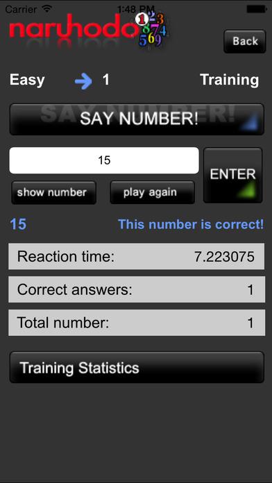 SayNumberStart iPhone Screenshot 1