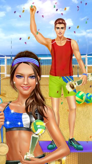 Sporty Girls: Summer Beach Volleyball