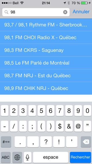 Sélection Radio du Québec iPhone Screenshot 4