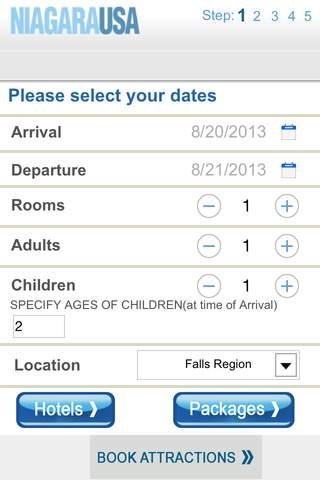 Niagara USA Reservations screenshot 1