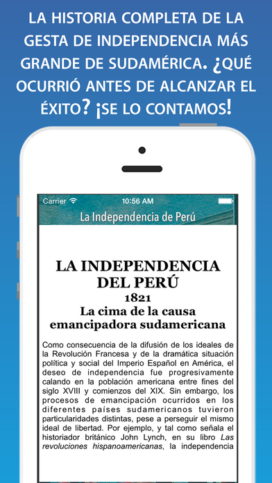 La independencia de Perú: Hecho Histórico iPhone Screenshot 2