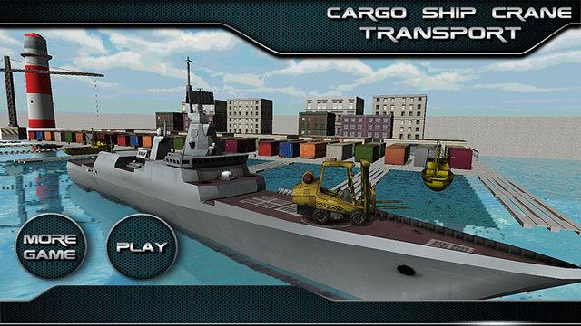 Cargo Ship Crane Operator