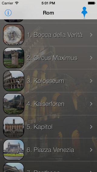 Rom Giracittà - Audioführer iPhone Screenshot 1