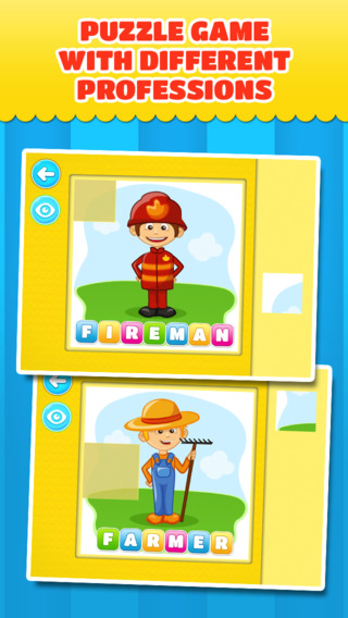 Community Helpers other Occupations: Puzzles for little children – Free