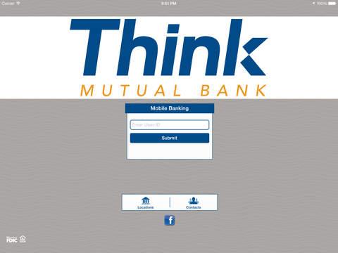 Think Mutual Bank App for iPad