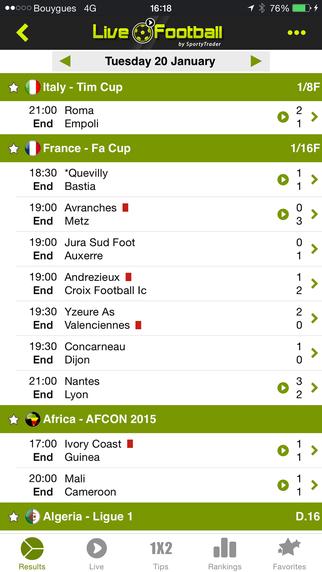 Live Football Scores - Soccer Livescore