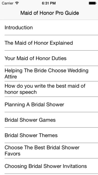 Maid of Honor Pro Guide on the App Store