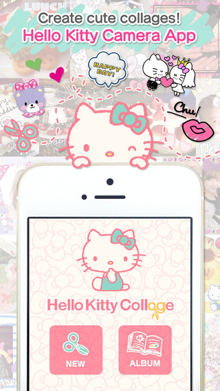 Hello Kitty Collage cute stickers and photo crop app