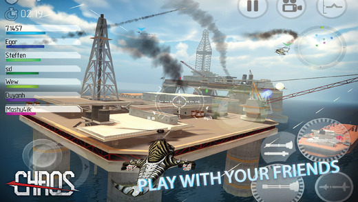 CHAOS Combat Copters HD -­ #1 Multiplayer Helicopter Simulator