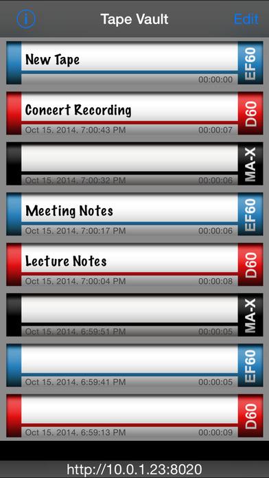 Tapes iPhone Screenshot 3