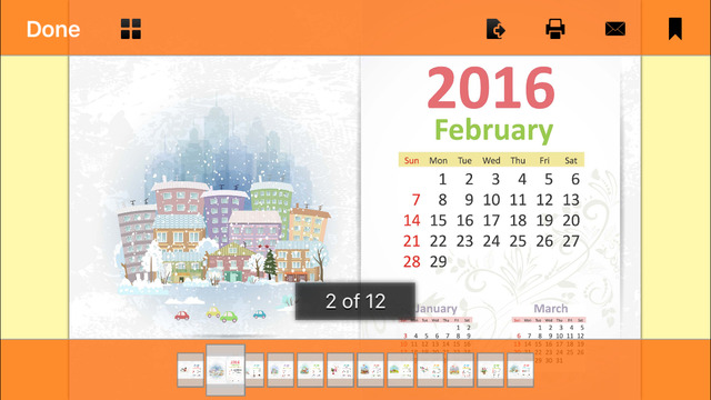 Printable 2016 Calendars - Year Of The Monkey