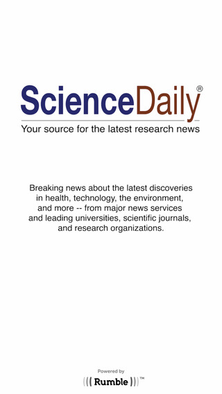 ScienceDaily for iPhone and iPad