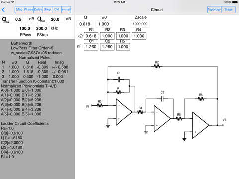 Electrical Filters iPad Screenshot 1