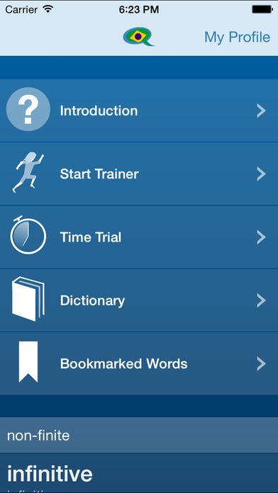 Portuguese Verb Conjugation Trainer by Tudo Bem Portuguese iPhone Screenshot 5