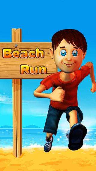 Beach Run Boy