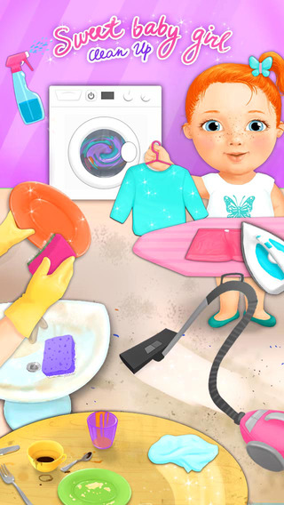 Sweet Baby Girl Clean Up - Kitchen Bath and Bedroom