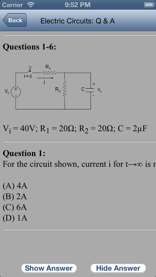 screenshots for fe electrical engineering exam review questions