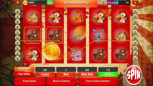 Chinese New Year Slots Casino of Odd Immortals - Year of The Sheep Vegas Slot Machine