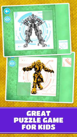 Super Action Robots Puzzles: Free
