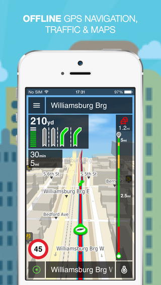 NLife USA Premium - Offline GPS Navigation Traffic Maps
