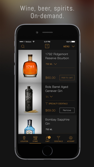 Thirstie: Alcohol On-Demand - Beer Wine Liquor Delivery