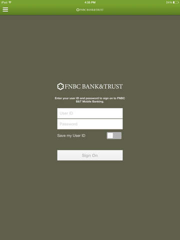 FNBC B T Mobile Banking for iPad