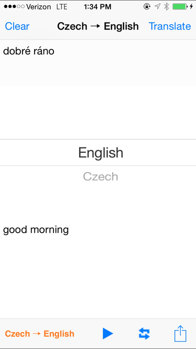 English Czech Translator with Voice iPhone Screenshot 2