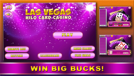 Aaaah Las Vegas Hi Lo Card Casino Video Poker Jackpot