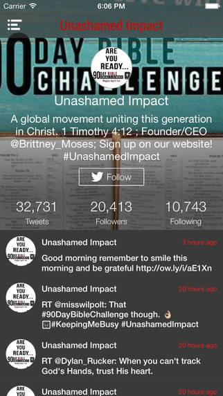 Unashamed Impact