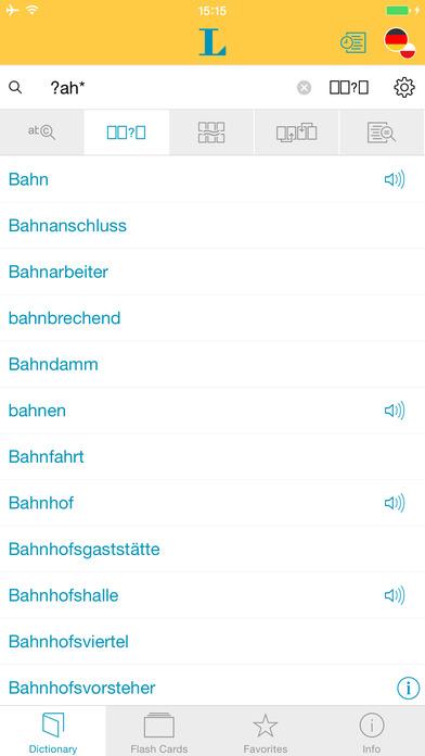 Polish <-> German Dictionary Langenscheidt Standard iPhone Screenshot 4